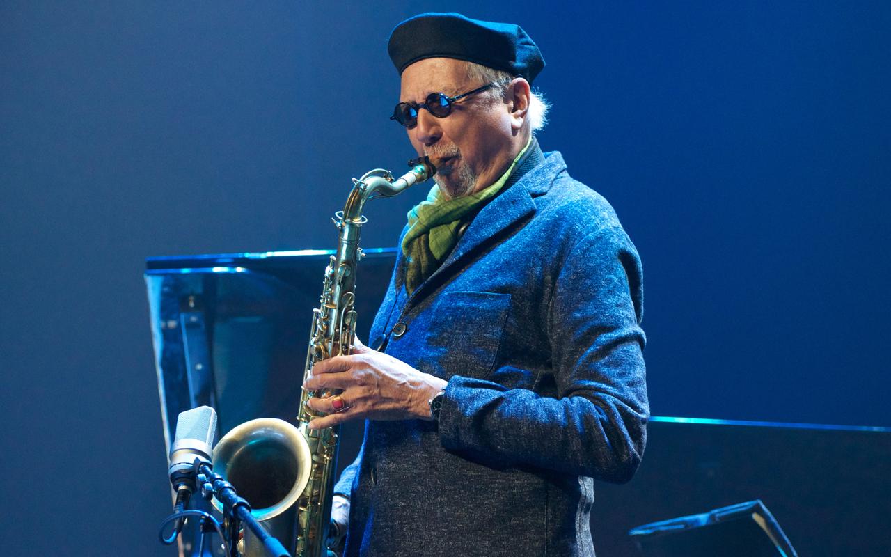 Charles Lloyd playing the saxophone