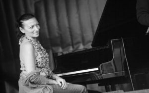Amina Figarova performs at the 2017 Earshot Jazz Festival