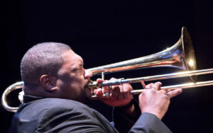 Wycliffe Gordon performs at the 2017 Earshot Jazz Festival