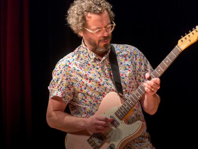Jakob Bro playing guitar, photo by Daniel Sheehan.