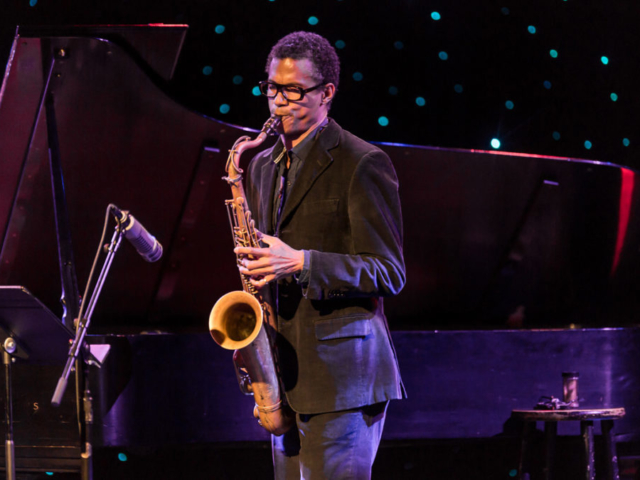 Mark Turner playing saxophone, photo by Daniel Sheehan.