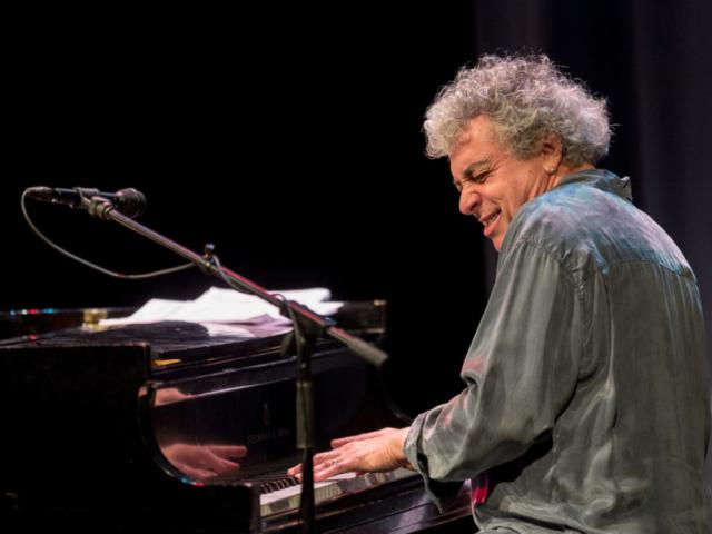 Jovino Santos Neto playing piano, photo by Daniel Sheehan.