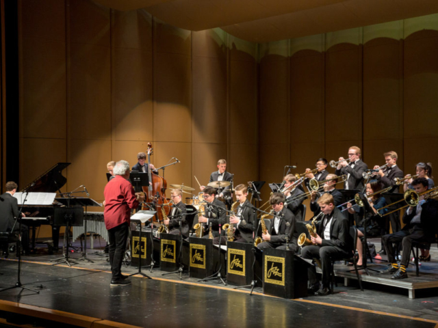 Roosevely High School Jazz Band with Jovino Santos Neto, photo by Daniel Sheehan.