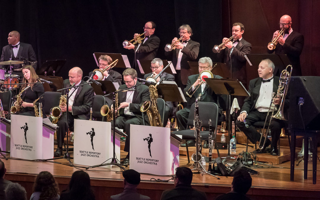 Seattle Repertory Jazz Orchestra performing on stage