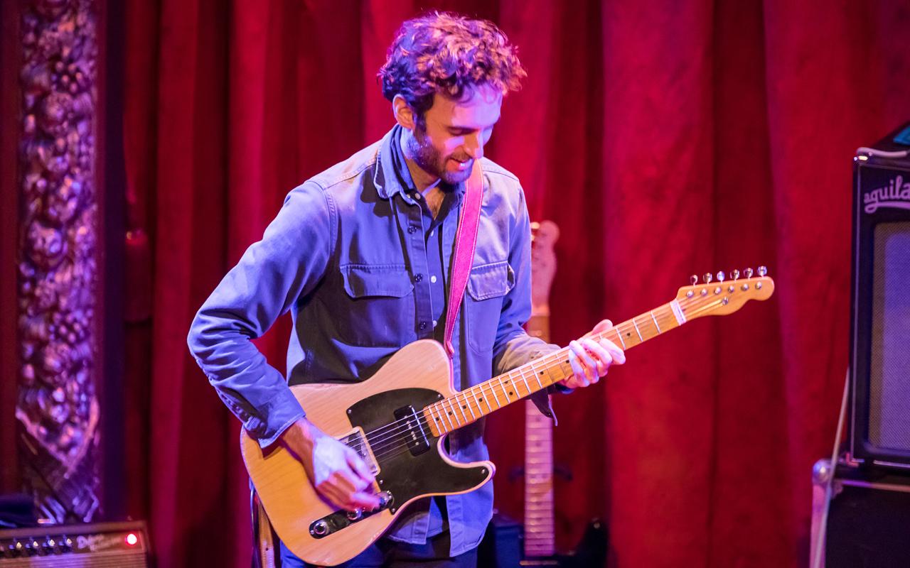 Julian Lage playing the guitar.