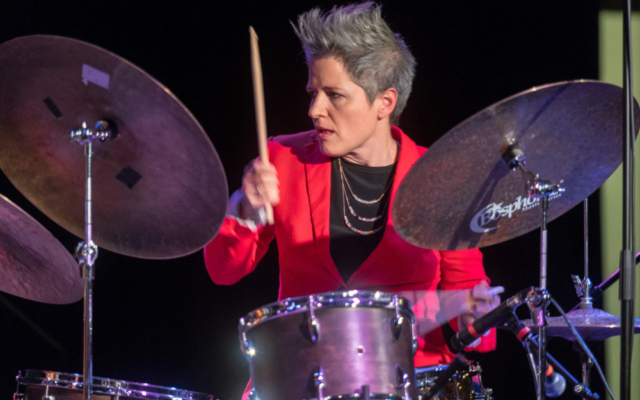 Allison Miller playing the drums.