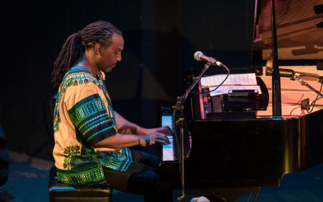 Darrius Willrich playing the piano.