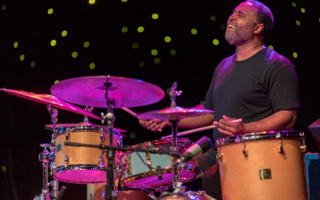 Kendrick Scott playing the drums at Triple Door.