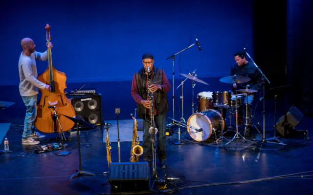 Options: Eric Revis on bass, Bennie Maupin on saxophone, and Nasheet Waits on drums.