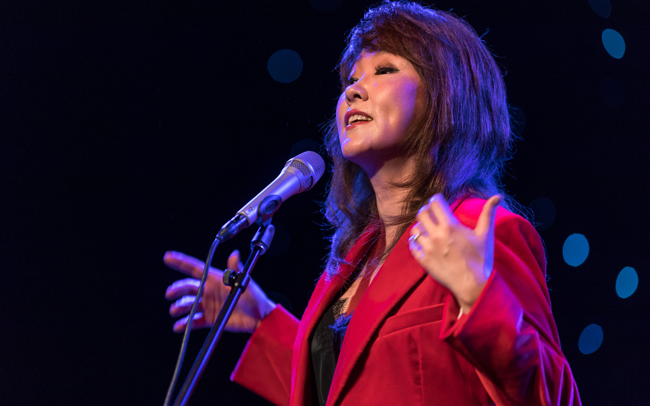 Youn Sun Nah singing.