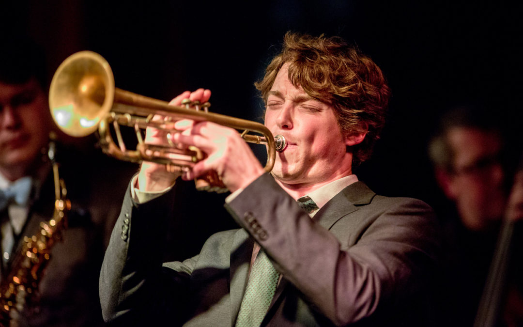 Ray Larsen playing trumpet
