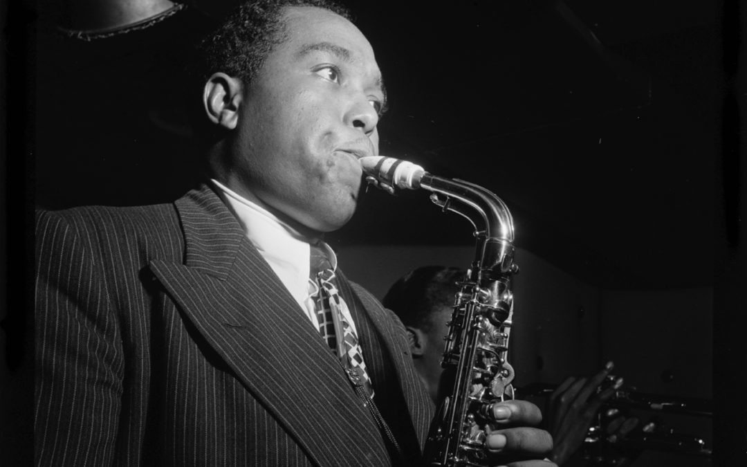 Charlie Parker playing saxophone