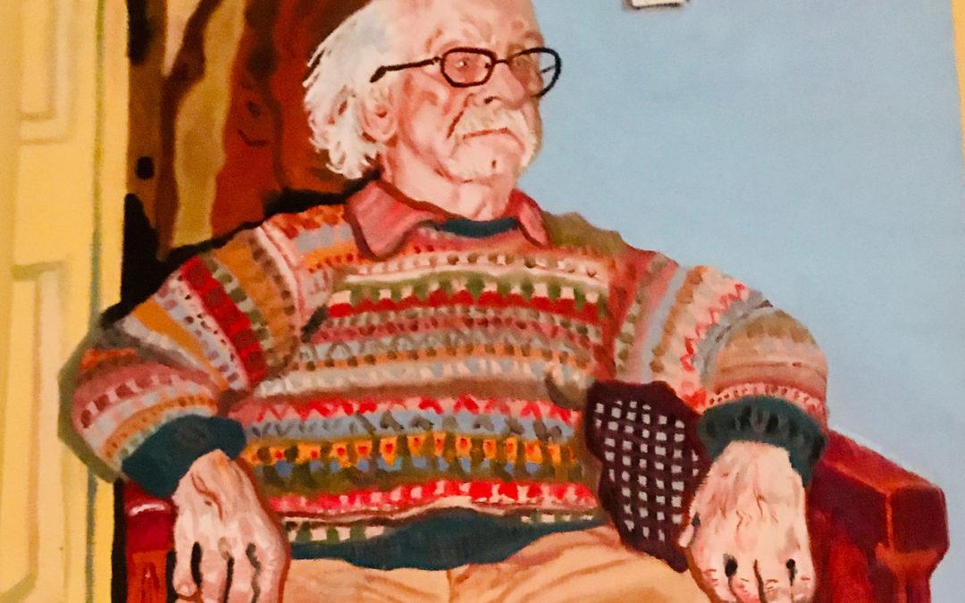 Painting of jazz musician Walt Tianen by Enno Tianen