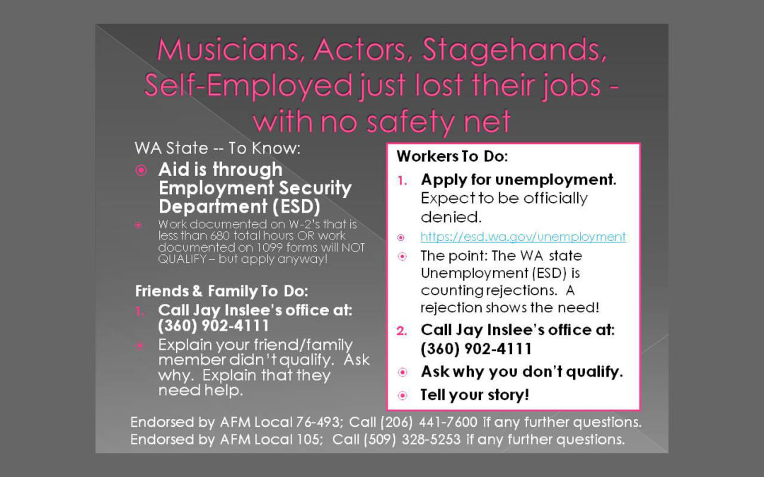 Slide from AFM Local 76-493 with Unemployment Information
