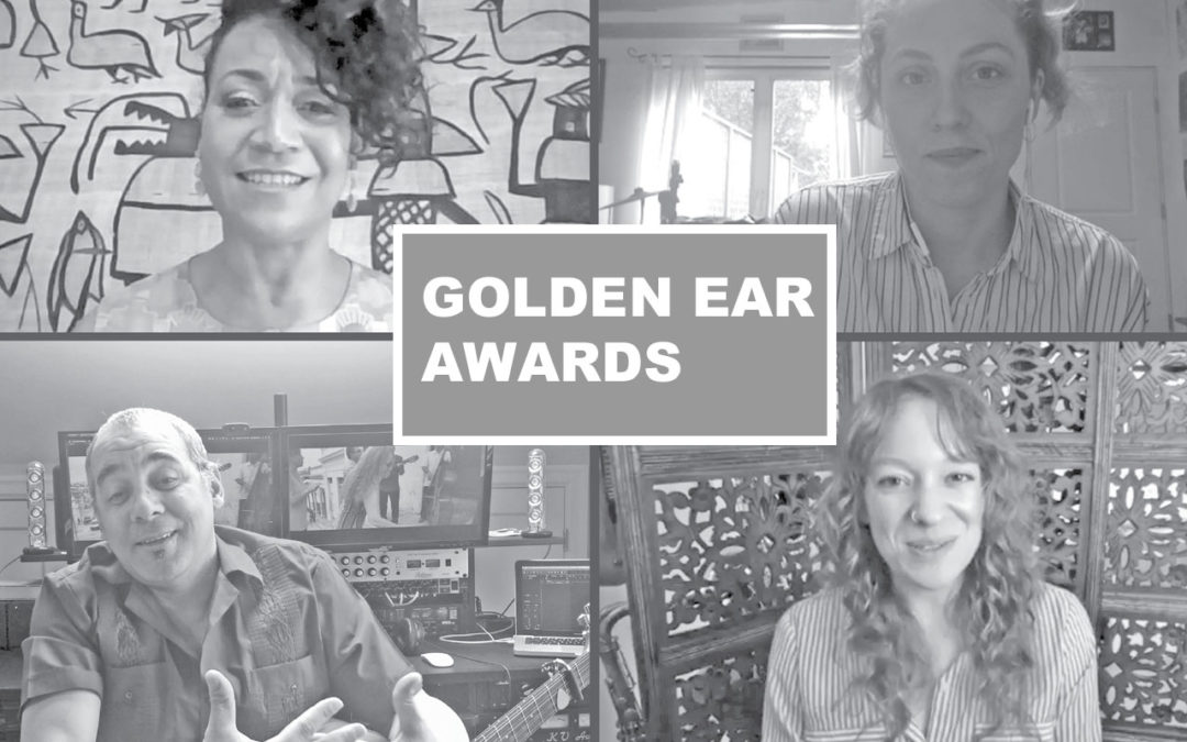 Zoom screenshot of Jacqueline Tabor, Kelsey Mines, Kiki Valera, and Kate Olson