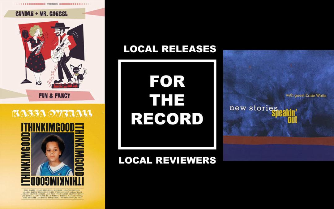 Album covers from Kassa Overall, Sundae + Mr. Goessl, and New Stories