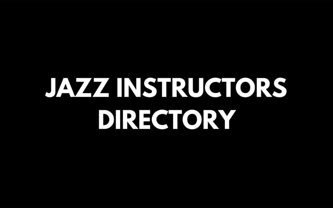 Jazz Instructors Directory