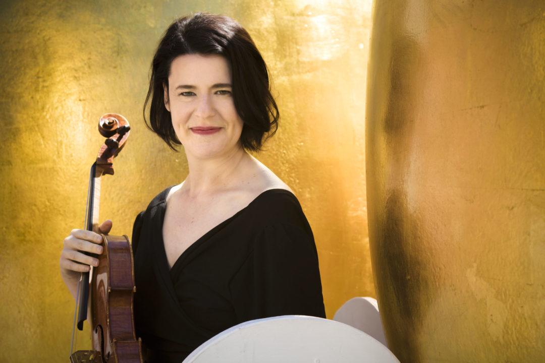 Melia Watras with a viola